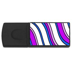 Purple Lines USB Flash Drive Rectangular (4 GB)