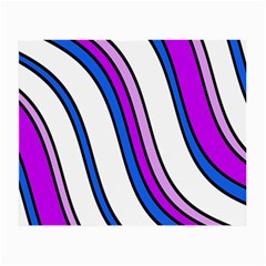 Purple Lines Small Glasses Cloth (2 Side) by Valentinaart