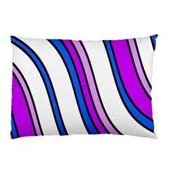 Purple Lines Pillow Case by Valentinaart