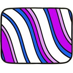 Purple Lines Fleece Blanket (mini) by Valentinaart