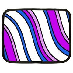 Purple Lines Netbook Case (xxl)  by Valentinaart