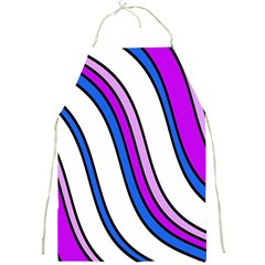 Purple Lines Full Print Aprons by Valentinaart