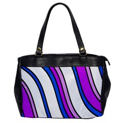 Purple Lines Office Handbags by Valentinaart