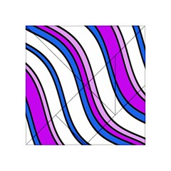 Purple Lines Acrylic Tangram Puzzle (4  X 4 ) by Valentinaart