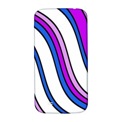 Purple Lines Samsung Galaxy S4 I9500/i9505  Hardshell Back Case by Valentinaart
