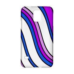 Purple Lines Samsung Galaxy S5 Hardshell Case  by Valentinaart