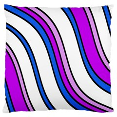 Purple Lines Large Flano Cushion Case (two Sides) by Valentinaart