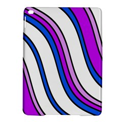 Purple Lines Ipad Air 2 Hardshell Cases by Valentinaart