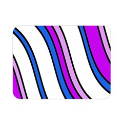 Purple Lines Double Sided Flano Blanket (mini)  by Valentinaart