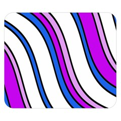 Purple Lines Double Sided Flano Blanket (small)  by Valentinaart