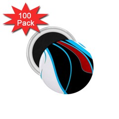 Blue, Red, Black And White Design 1 75  Magnets (100 Pack)  by Valentinaart