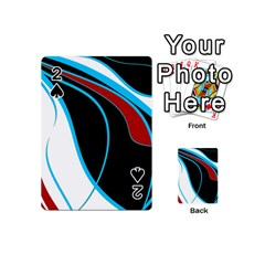 Blue, Red, Black And White Design Playing Cards 54 (mini)  by Valentinaart