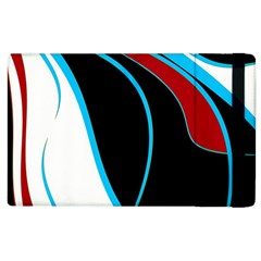 Blue, Red, Black And White Design Apple Ipad 3/4 Flip Case by Valentinaart