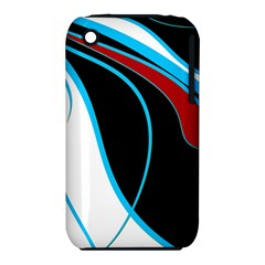 Blue, Red, Black And White Design Apple Iphone 3g/3gs Hardshell Case (pc+silicone) by Valentinaart