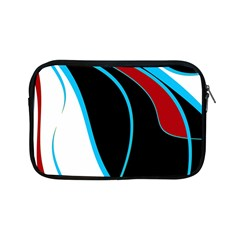 Blue, Red, Black And White Design Apple Ipad Mini Zipper Cases by Valentinaart