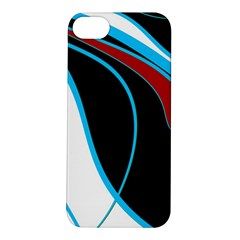 Blue, Red, Black And White Design Apple Iphone 5s/ Se Hardshell Case by Valentinaart
