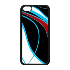 Blue, Red, Black And White Design Apple Iphone 5c Seamless Case (black) by Valentinaart
