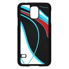 Blue, Red, Black And White Design Samsung Galaxy S5 Case (black) by Valentinaart