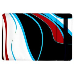 Blue, Red, Black And White Design Ipad Air 2 Flip by Valentinaart