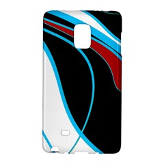 Blue, Red, Black And White Design Galaxy Note Edge by Valentinaart