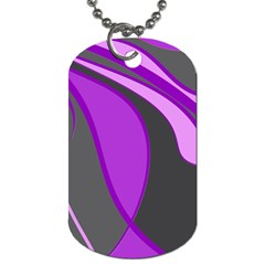 Purple Elegant Lines Dog Tag (one Side) by Valentinaart
