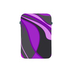 Purple Elegant Lines Apple Ipad Mini Protective Soft Cases by Valentinaart