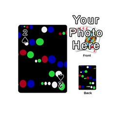 Colorful Dots Playing Cards 54 (Mini)  by Valentinaart