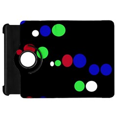 Colorful Dots Kindle Fire HD Flip 360 Case by Valentinaart
