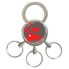 Decorative Abstraction 3 Ring Key Chains by Valentinaart