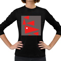 Decorative Abstraction Women s Long Sleeve Dark T Shirts by Valentinaart