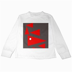 Decorative Abstraction Kids Long Sleeve T Shirts by Valentinaart