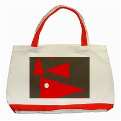 Decorative Abstraction Classic Tote Bag (red) by Valentinaart
