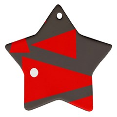 Decorative Abstraction Star Ornament (two Sides)  by Valentinaart