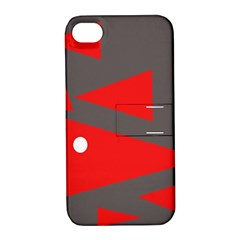 Decorative Abstraction Apple Iphone 4/4s Hardshell Case With Stand by Valentinaart