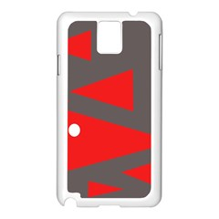 Decorative Abstraction Samsung Galaxy Note 3 N9005 Case (white) by Valentinaart