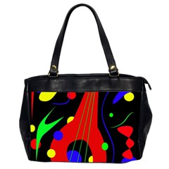 Abstract Guitar  Office Handbags (2 Sides)  by Valentinaart