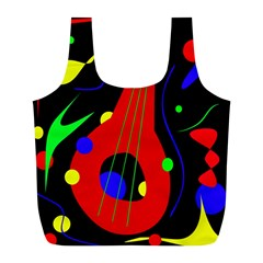 Abstract Guitar  Full Print Recycle Bags (l)  by Valentinaart