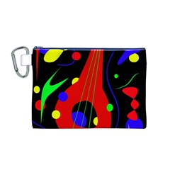 Abstract Guitar  Canvas Cosmetic Bag (m) by Valentinaart
