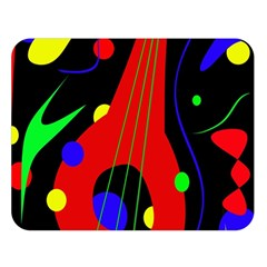 Abstract Guitar  Double Sided Flano Blanket (large)  by Valentinaart