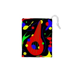 Abstract guitar  Drawstring Pouches (XS)  by Valentinaart