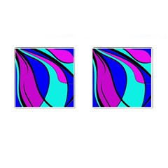 Purple and Blue Cufflinks (Square) by Valentinaart