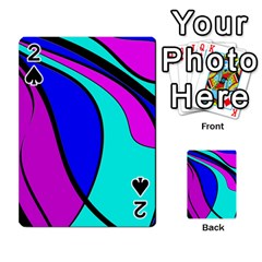 Purple And Blue Playing Cards 54 Designs  by Valentinaart
