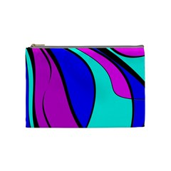 Purple And Blue Cosmetic Bag (medium)  by Valentinaart