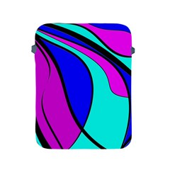 Purple and Blue Apple iPad 2/3/4 Protective Soft Cases by Valentinaart