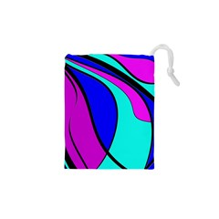 Purple and Blue Drawstring Pouches (XS)  by Valentinaart