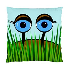 Snail Standard Cushion Case (one Side) by Valentinaart