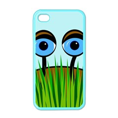 Snail Apple Iphone 4 Case (color) by Valentinaart