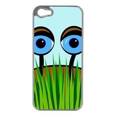 Snail Apple Iphone 5 Case (silver) by Valentinaart