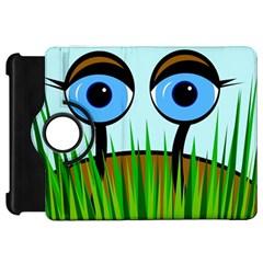 Snail Kindle Fire Hd Flip 360 Case by Valentinaart
