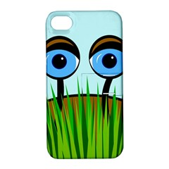 Snail Apple Iphone 4/4s Hardshell Case With Stand by Valentinaart